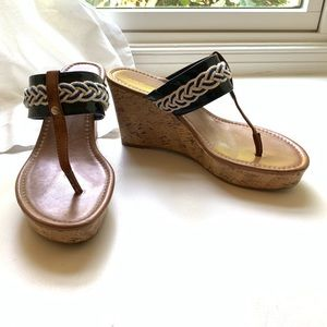 Tommy Hilfiger nautical cork wedge sandal